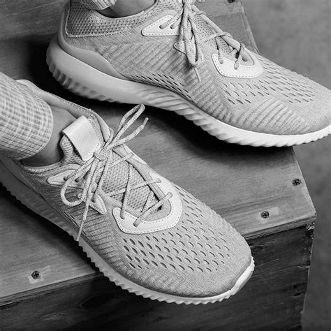 Adidas Alphabounce Engineered Mesh Grey Premium reigning ch adidas boost alphabounce sneaker bar