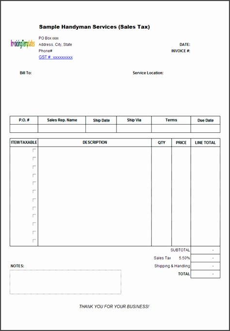 handyman receipt template 11 goods sales receipt template sletemplatess