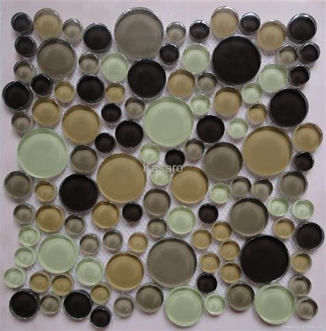 Handmade Glass Tile - handmade circle glass mosaic tile ksl c112007 kasaro