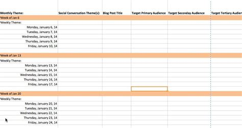 social media strategy template 2014 the complete guide to choosing a content calendar