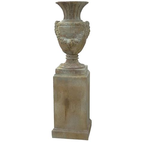 Urn Planters With Pedestal by A B Home Augustus 18 5 In X 35 In Cement Garden Urn And Pedestal Planter 2 Pack D69519