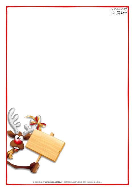 printable santa border paper printable letter to santa claus blank paper template