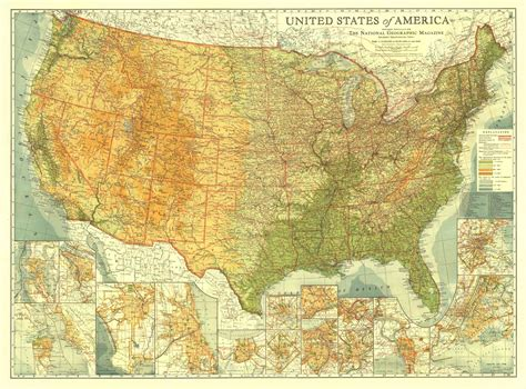 picture of map of united states of america united states of america map 1923 maps