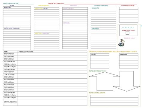 daily planner template work 40 printable daily planner templates free template lab