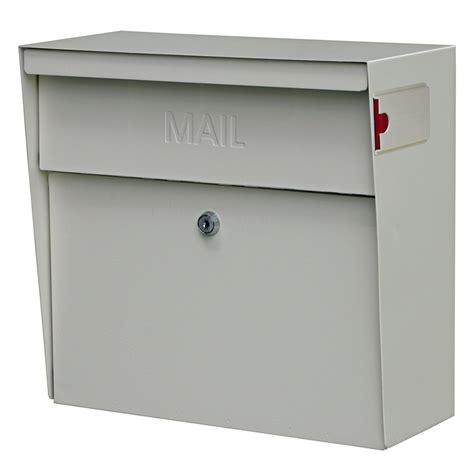 wall mounted locking mailboss 7163 metro wall mount locking mailbox white gs7163