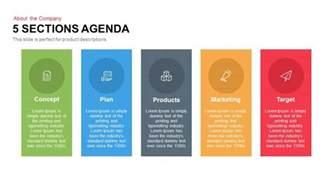 5 sections agenda powerpoint keynote template slidebazaar