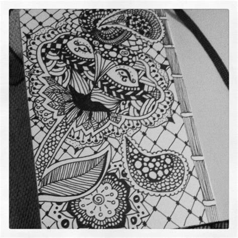 how to draw a doodle tiger zentangle flower tiger my zentangle doodle