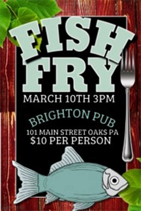 Customizable Design Templates For Fish Fry Postermywall Free Fish Fry Flyer Template