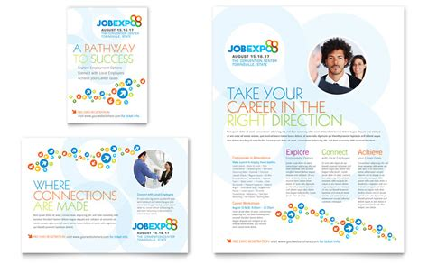 job expo career fair flyer ad template word publisher
