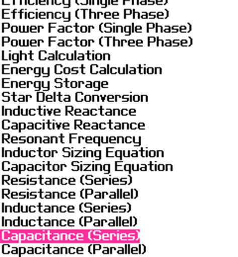 capacitive reactance in parallel calculator blackberry education my electrical calculator for blackberry