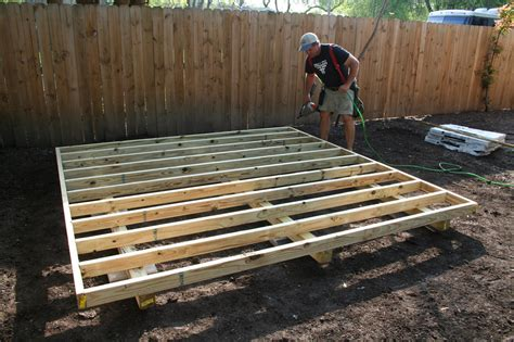 Shed Floor Joists by Backyard Barns Custom Wood Storage Sheds San Antonio