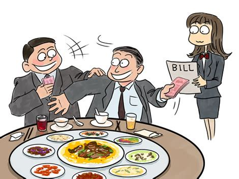 fed up of seeing diners fight over paying the bill, waiter