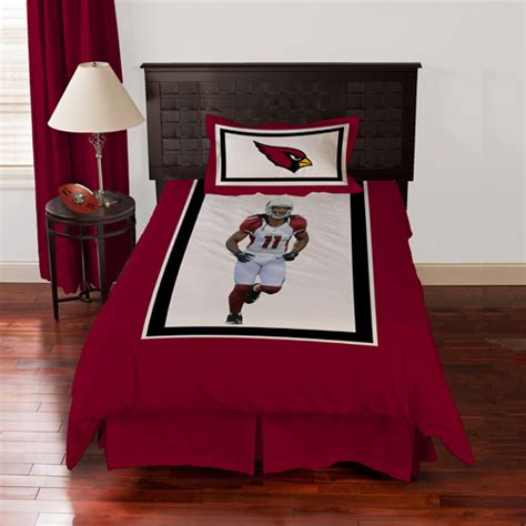 Arizona Cardinals Bed Set Biggshots Arizona Cardinals Larry Fitzgerald Bedding Comforter Set Walmart