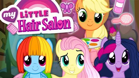 games haircut my little pony my little pony mlp hair salon applejack fluttershy