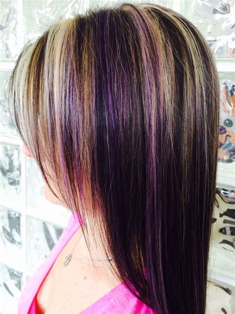 hairstyles with blonde and purple highlights blonde highlights and purple lowlights for the love of