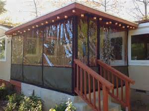 Porch Plastic Curtains Corrugated Plastic Decks And House Ideas On