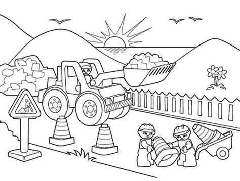 Construction Workers Free Colouring Pages Construction Colouring Pages