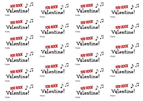 you rock valentines you rock printable about a