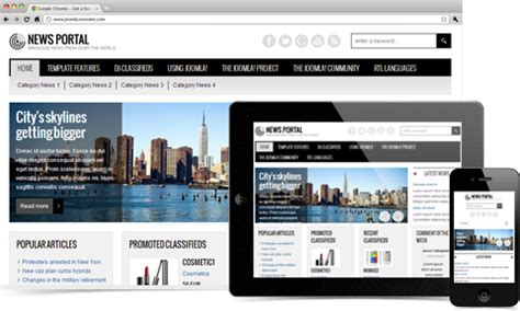 Responsive News Joomla Template Portal jm news portal responsive joomla template for classifieds
