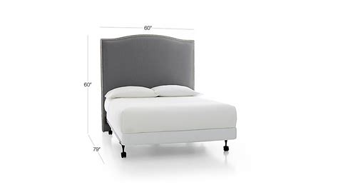 colette headboard colette tall upholstered headboards crate and barrel