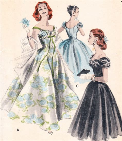 dress pattern gown vintage dress patterns on pinterest vintage patterns