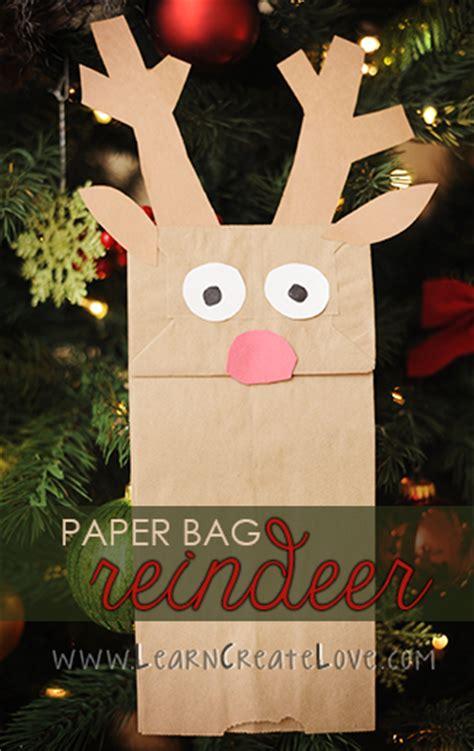Paper Bag Reindeer Craft - paper bag reindeer craft