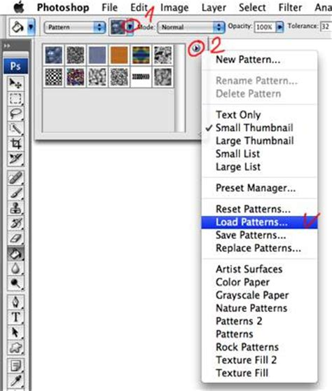 pattern photoshop how to how to install patterns in adobe photoshop cs3