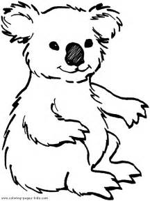 free zoo animal coloring pages koala color page