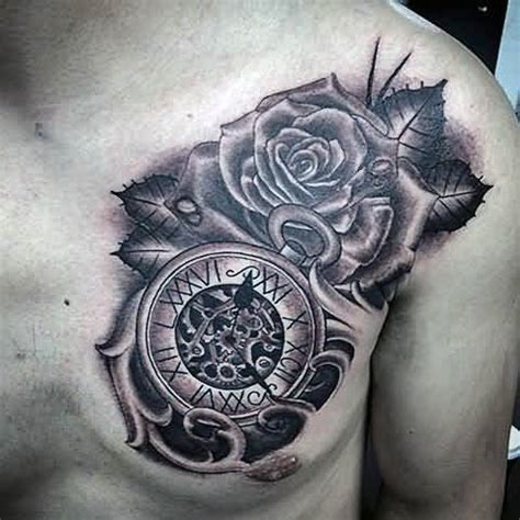 manly rose tattoos top 2016 pac of clocks images for tattoos
