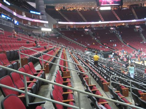 section club toyota center section 120 houston rockets