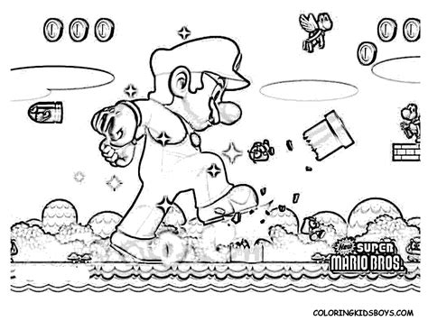 mario coloring pages color printing printable throughout baby