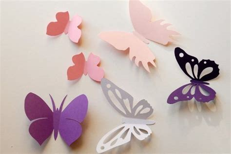 How To Make Paper Butterfly Decorations - inexpensive diy wall decor ideas and crafts