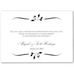 wedding thank you cards easy writing wedding thank you cards sle design best wedding thank