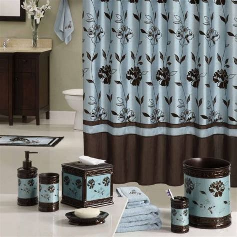 brown and blue bathroom accessories designer shower curtains top 10 hometone home