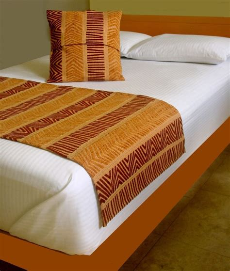 bed scarves and matching pillows home ideas bed runner scarf table pillow cover set african or native