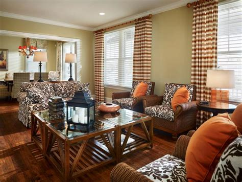Living Room With Orange Accents by Photo Page Hgtv