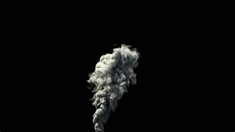 background information definition high detailed dense smoke rising balck background hd