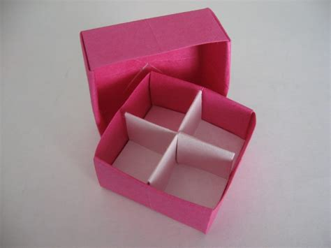 Origami Box Divider - how to fold a divider for an origami box origami