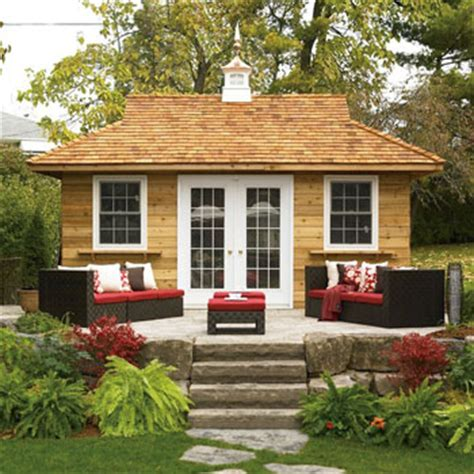 prefab backyard guest house backyard bungalows not just man caves any longer post