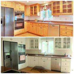 Kitchen Cabinet Transformation refinishing cabinets with rust oleum cabinet transformations