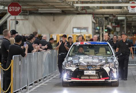toyota manufacturing company toyota plant closure latest step in australian