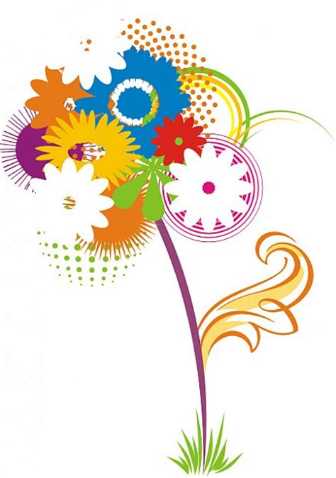 imagenes flores vectorizadas vectores de flores descargar vectores gratis
