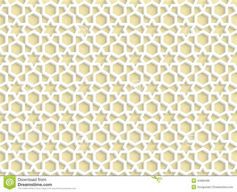 islamic pattern wall 3d white seamless pattern in arabic style stock