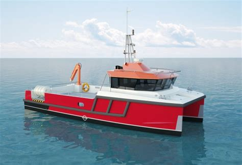 catamaran workboat sea worker albatross marine design