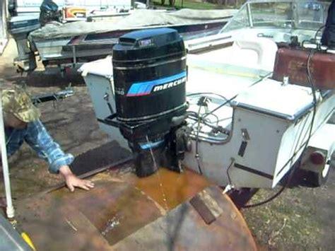 mercury 115 hp outboard running in test tank