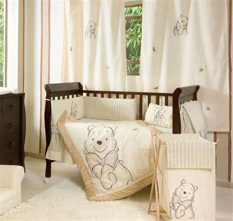 4 Piece Unisex Winnie The Pooh Baby Crib Bedding Cot Set Unisex Baby Bedding Crib Sets
