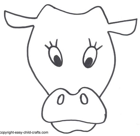 free coloring pages of cow mask