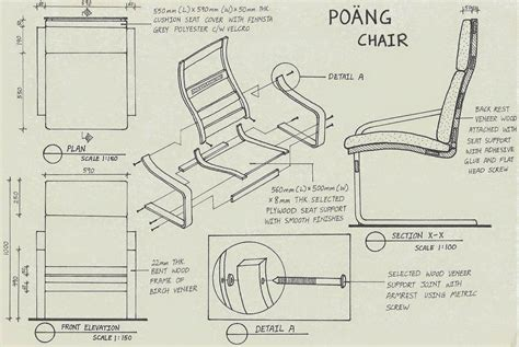 layout view yii yii min in design assembly drawing poang chair by ikea