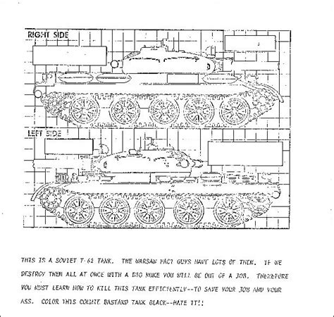cold war coloring book taught a 10 pilots to kill soviet tanks