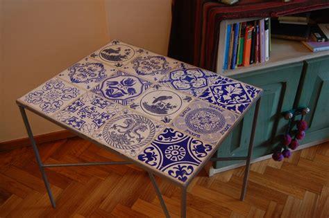 mesa de hierro  azulejos cocinas pinterest